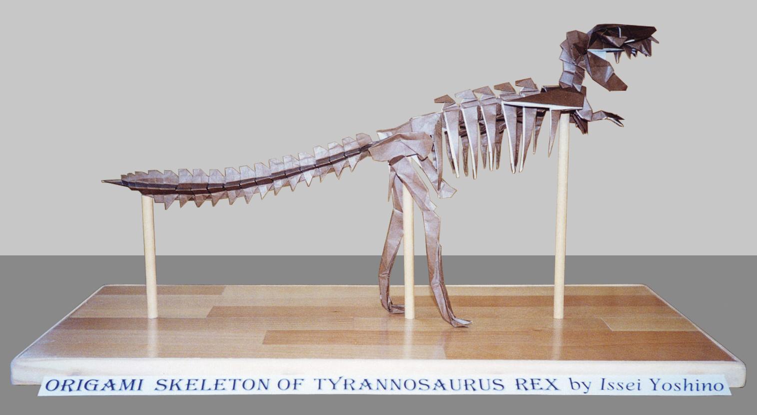 Origami Skeleton of Tyrannosaurus Rex - aStore for Amazon Associates